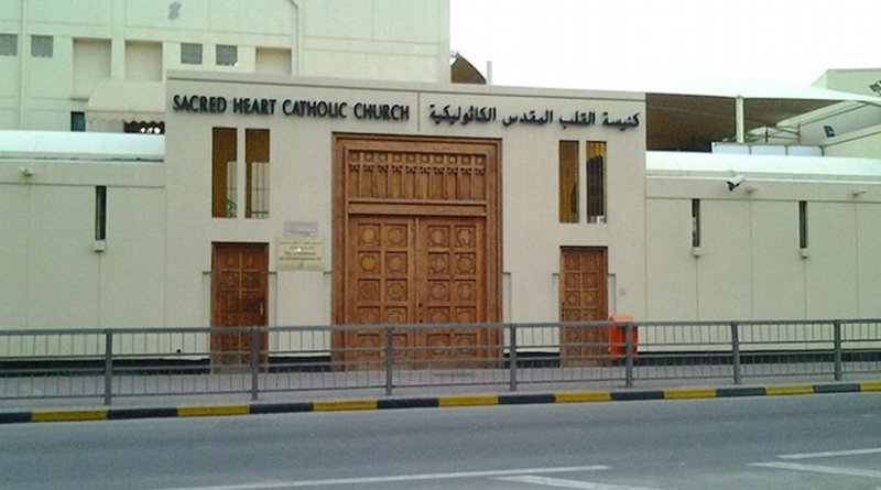 Sacred Heart Church in Manama, Bahrain. Photo by Ciacho5, Wikipedia Commons.