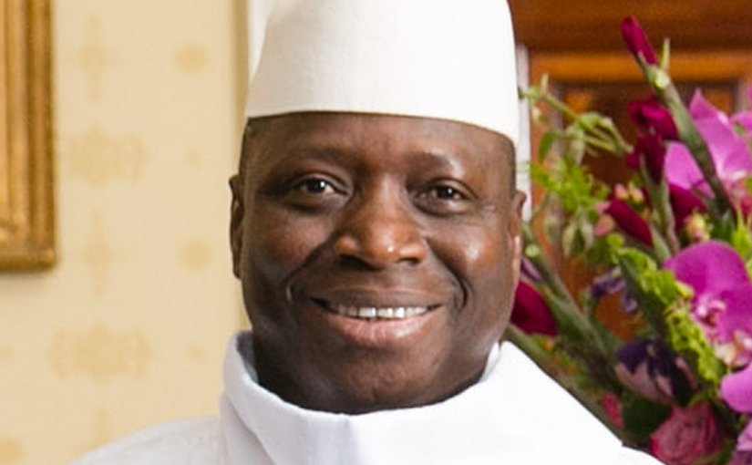Gambia's Yahya Jammeh. Photo by Amanda Lucidon / White House, Wikipedia Commons.