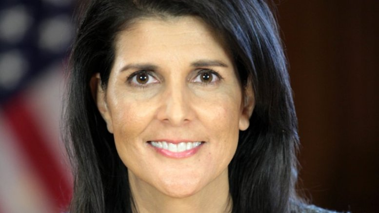United States' Nikki Haley. Photo Credit: Office of the President-elect, Wikipedia Commons.