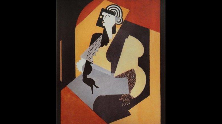 Albert Gleizes, 1920, Femme au gant noir (Woman with Black Glove),