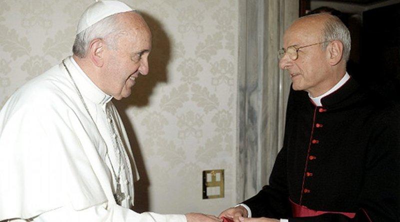 Pope Francis and Mgr Fernando Ocáriz Braña. Photo Credit: Opus Dei.