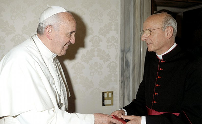 Pope Francis and Mgr Fernando Ocáriz Braña. Photo Credit: Opus Dei.