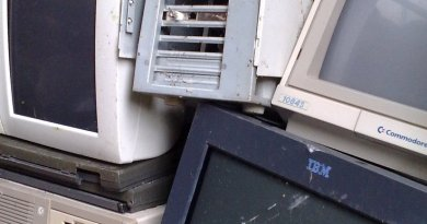Defective and obsolete electronic equipment. Photo by AvWijk, Wikipedia Commons.