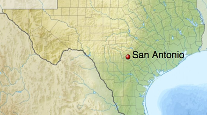 Location of San Antonio, Texas. Credit: Wikipedia Commons.