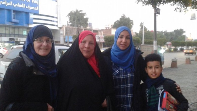 Cathy Breen with close friends in Baghdad