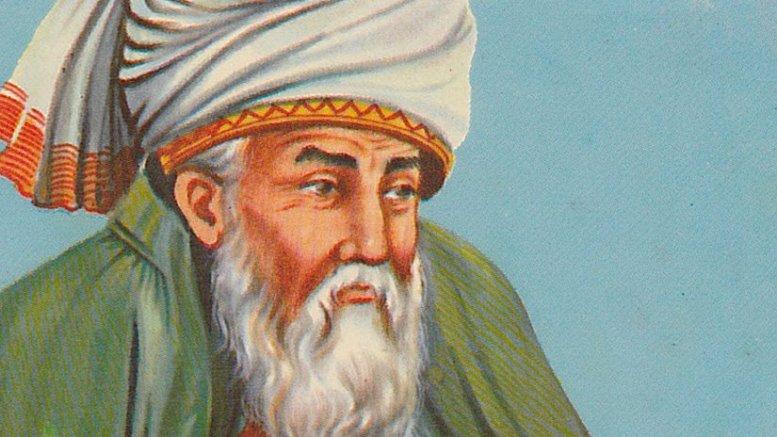 Jalaluddin Al-Rumi. Credit: Molavi, Wikipedia Commons.