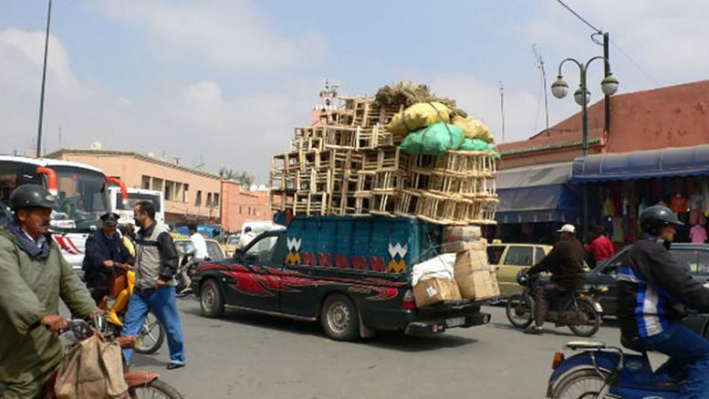Market scene in Morocco.