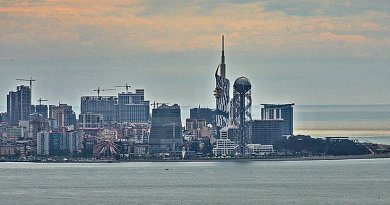 Skyline of Batumi, Georgia. Photo by Uwe Brodrecht, Wikipedia Commons.