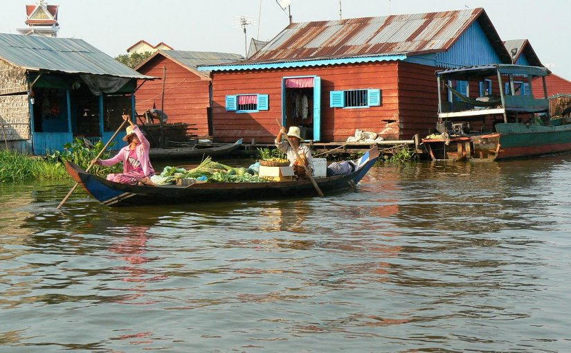 Mekong River livelihoods and food security are closely linked to water. Credit Timo Räsänen