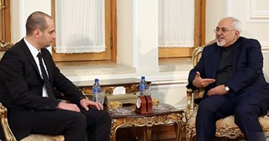Mikheil Janelidze and Mohammad Javad Zarif, January 11, 2017. Photo: Georgian MFA