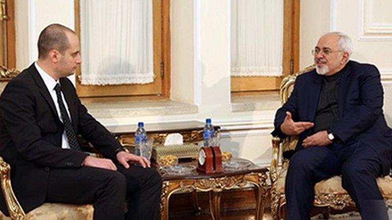Mikheil Janelidze and Mohammad Javad Zarif, January 11, 2017. Photo: Georgian MFA