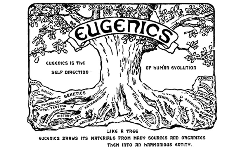 Logo from the Second International Eugenics Conference, 1921, depicting eugenics as a tree which unites a variety of different fields. Source: Wikipedia Commons.