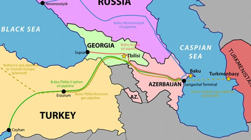Trans-Caspian Gas Pipeline. Source: WIkipedia Commons.