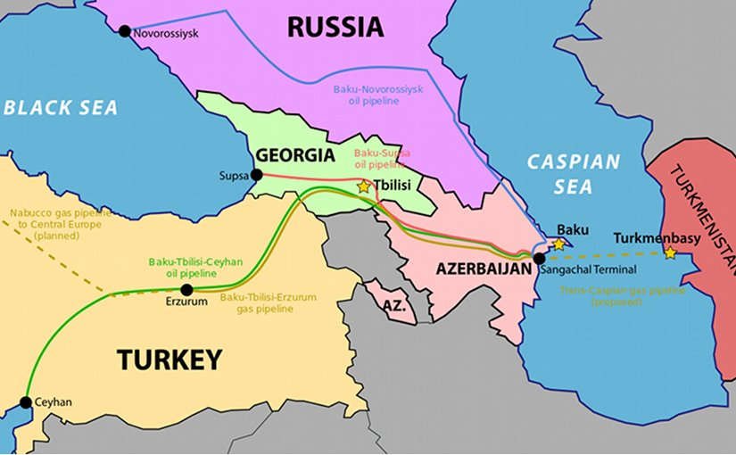 Trans-Caspian Gas Pipeline. Source: WIkipedia Commons.