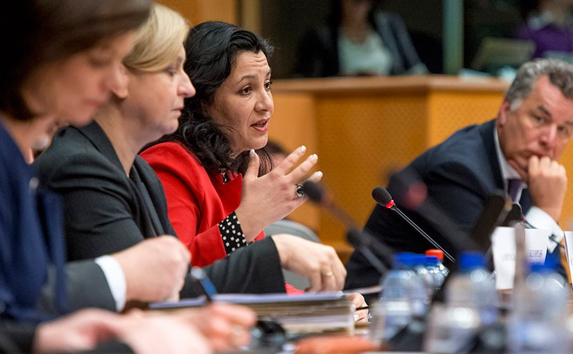 Meeting on Russia featuring (middle) Ukraine's Ivanna Klympush-Tsintsadze. Photo Credit: EU Parliament News