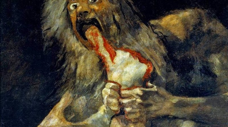 """Saturn Devouring His Son"", by Francisco de Goya."