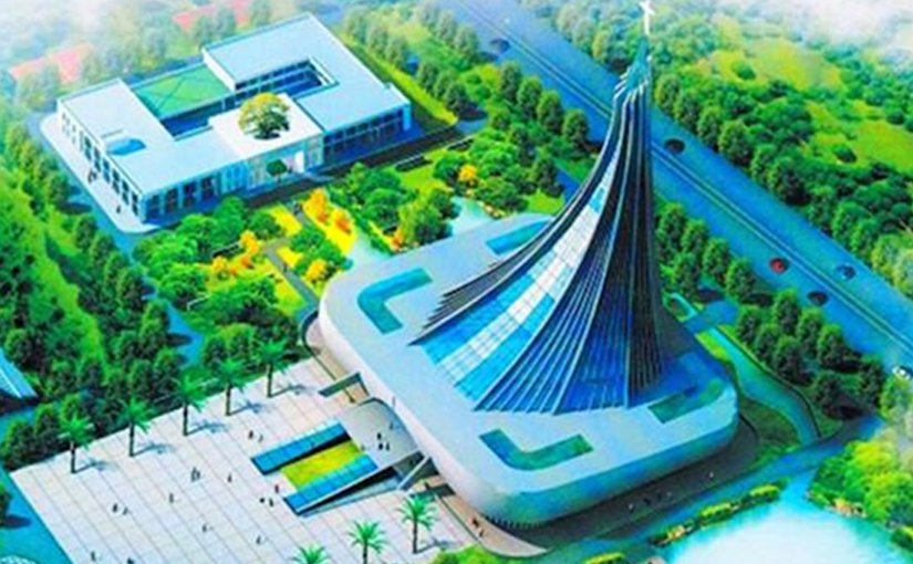 An artist's impression of the Xingsha Ecological Park in Hunan Province, with the Xingsha Church in the middle of the park. (Representational photo)