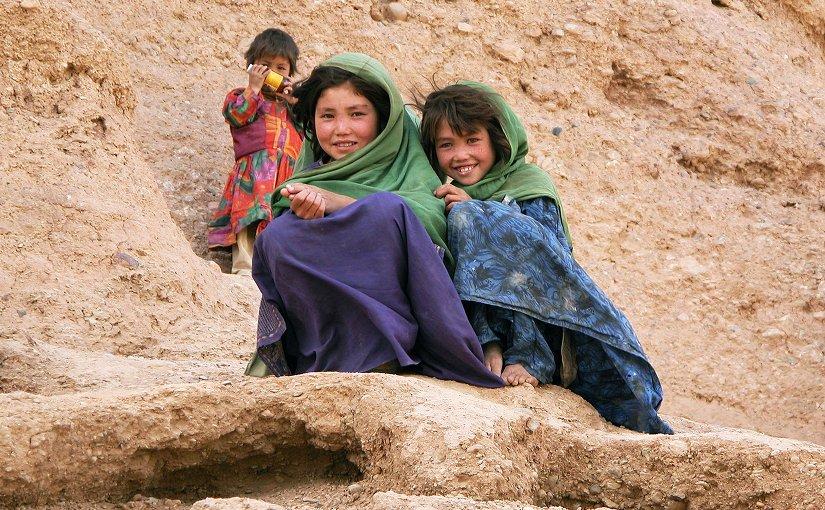 Girls in Afghanistan. Photo by Mario Santana, Wikimedia Commons.