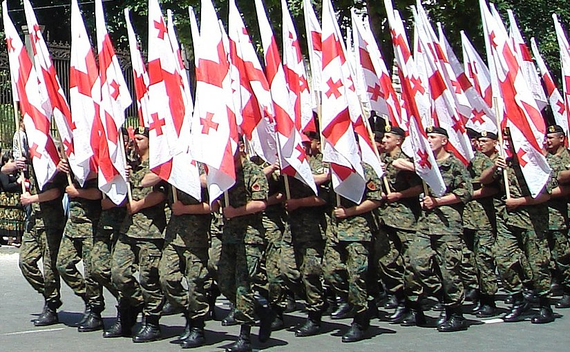 Military parade in Georgia. Photo by Kober, Wikipedia Commons.