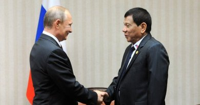 The Philippines' Rodrigo Duterte with Russia's Vladimir Putin. Photo Credit: Kremlin.ru