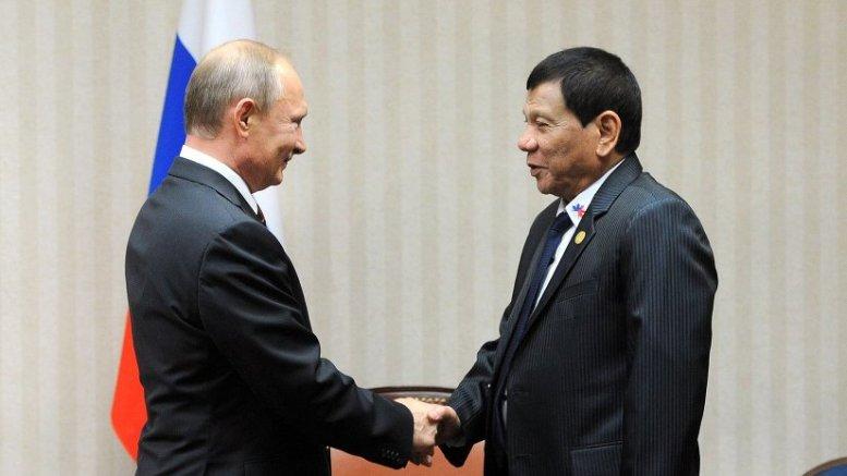 The Philippines' Rodrigo Duterte with Russia's Vladimir Putin. Photo Credit: Kremlin.ru
