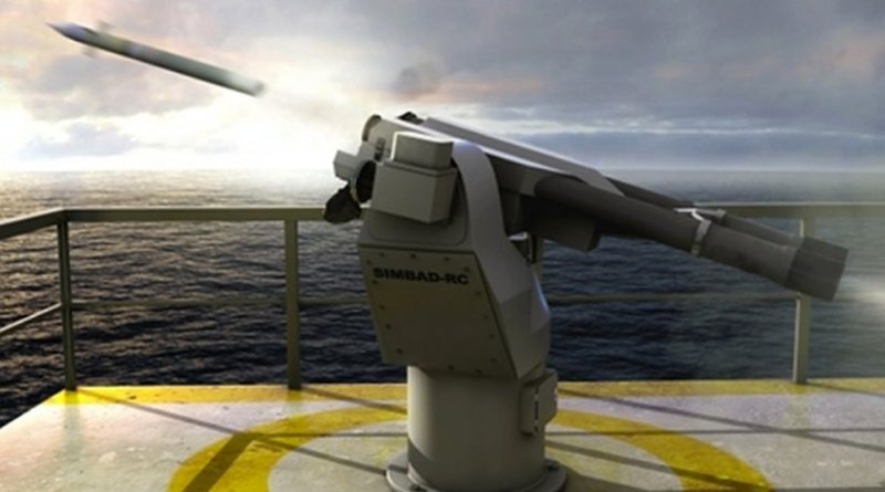The SIMBAD-RC naval surface-to-air missile, apparently recently acquired by Turkmenistan. (photo: MBDA)