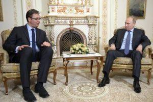 Serbian Prime Minister Aleksandar Vučić with Russian President Vladimir Putin (Source: kremlin.ru)