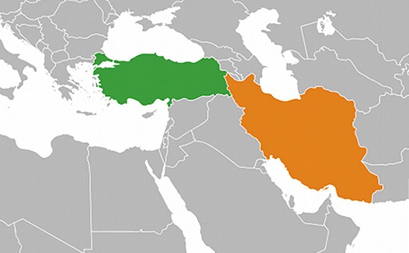 An unending tie between iran and turkey oped eurasia review ocations of turkey green and iran orange source wikipedia gumiabroncs Gallery