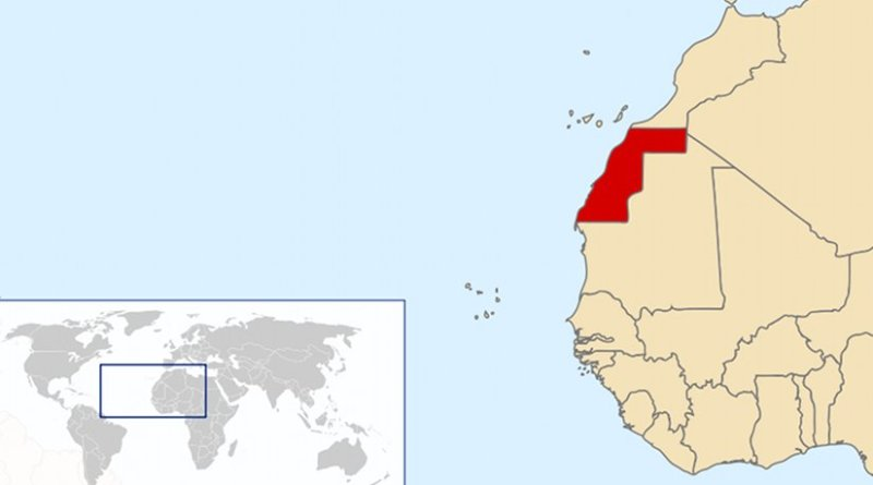 Location of Western Sahara. Source: Wikipedia Commons.