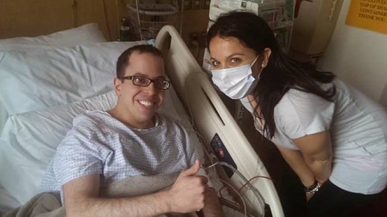 David Levy, shown here with his sister, is the first adult patient cured of CDA. Credit David Levy