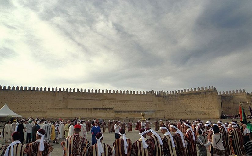 Sacred Festival Fez Dance in Morocco. Photo was taken at Issawa Moussem by Hakim-agh, Wikipedia Commons.