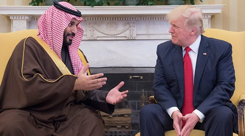 Saudi Arabia's Deputy Crown Prince Mohammed bin Salman and US President Donald Trump. Credit: Arab News.