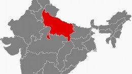 Location of Uttar Pradesh in India. Source: Wikipedia Commons.
