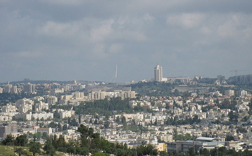 Views from Givat HaArbaa, near Hebron road, Jerusalem. Photo by Deror avi, Wikipedia Commons.