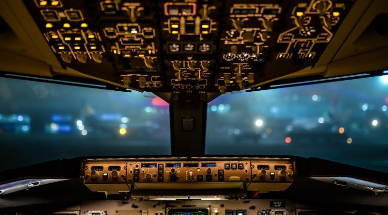 Aviation cockpit airplane