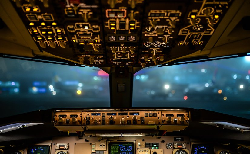 Aviation cockpit airplane