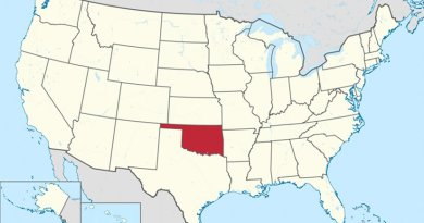 Location of Oklahoma in the United States. Credit: Wikipedia Commons.
