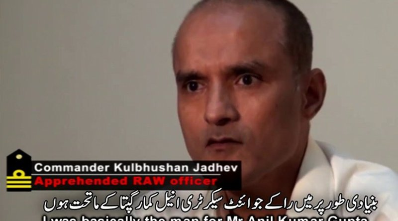 Screenshot from confessional video of Kulbhushan Yadav that was released by Pakistan's military.