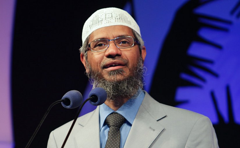 Zakir Naik. Photo by Maapu, Wikipedia Commons.