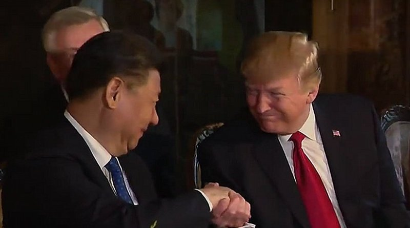 US President Donald Trump and China's President Xi Jinping. Photo Credit: White House video screenshot.