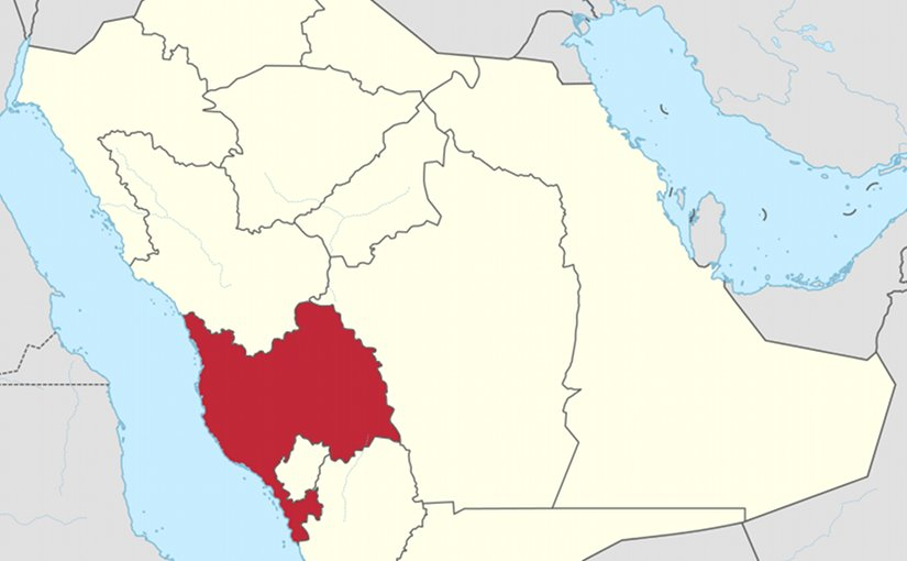 Map of Saudi Arabia with Makkah highlighted. Source: Wikipedia Commons.
