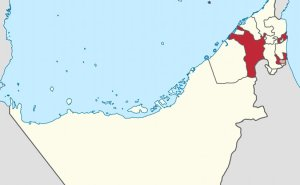 Location of Sharjah in the United Arab Emirates. Credit: Wikipedia Commons.