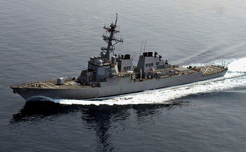The guided-missile destroyer USS Stethem. Photo by Gabriel S. Weber, U.S. Navy,