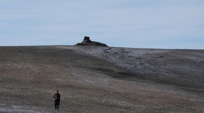This is the first methane mound, Canadian High Arctic. Credit Credit Stephen Grasby and Geological Society of America Bulletin