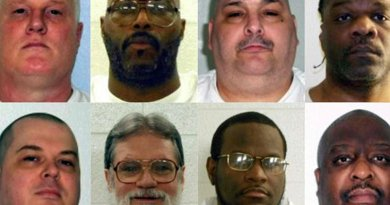 Eight men had been scheduled to be executed. Top, from left: Don Davis, Stacey Johnson, Jack Jones and Ledell Lee; bottom, from left: Jason McGehee, Bruce Ward, Kenneth Williams and Marcel Williams. Credit: Arkansas Department of Correction.