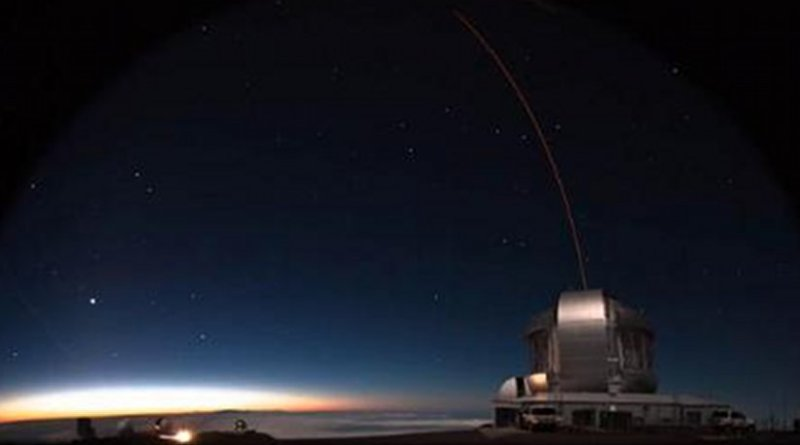 The astronomers measured the movement of the stars using the Gemini North telescope located on Mauna Kea volcano in Hawaii. They applied a technique known as adaptive optics to the ultra-compact dwarf galaxies to correct for distortions caused by the Earth's atmosphere. Credit Gemini Observatory/AURA
