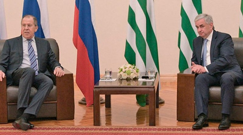 Russia's Foreign Minister Sergey Lavrov meets with President of the Republic of Abkhazia Raul Khadjimba. Source: Russian Foreign Ministry.