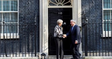 UK's Theresa May meets Antonio Tajani outside 10 Downing Street. Photo Credit:European Parliament News.
