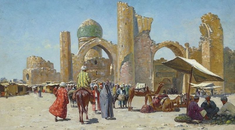 Samarkand, by Richard-Karl Karlovitch Zommer (1866–1939) - Christie's, LotFinder: entry 5146250 (sale 7684, lot 349, London, 26 November 2008). Credit: Wikimedia Commons.