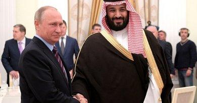 Russia's President Vladimir Putin meets Deputy Crown Prince and Defence Minister of Saudi Arabia Mohammad bin Salman Al Saud. Photo Credit: Kremlin.ru